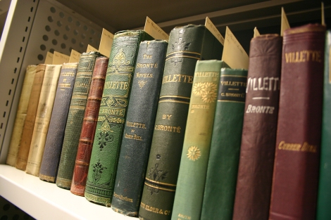Editions of Villette by Charlotte Brontë from the Hargreaves Collection.