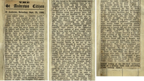 An account of Linksill's own Ghost Walk from the 25 September 1926 issue of the St Andrews Citizen