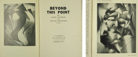 Title page and frontispiece and p. 51 from Lance Sieveking's and Francis Bruguière's Beyond This Point (St Andrews copy Photo PR6037.I48 1029)