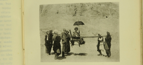 """""""Carrying-Chair"""" from M.S. Craig's Diary of a Trip to Egypt (St Andrews copy Photo DT55.C8)"""