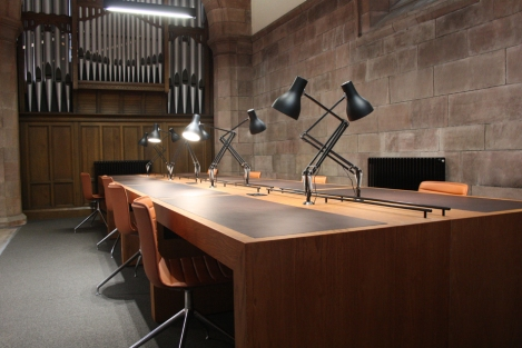 Desks in Martyrs Kirk Research Library