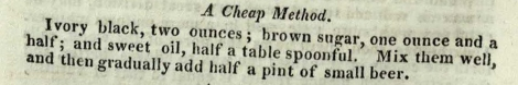 The cheap receipt for blacking, containing small beer. The Complete Servant, p. 390 (St Andrews copy sTX331.A2).