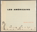 Front cover of the French first edition of Robert Frank's Les américains