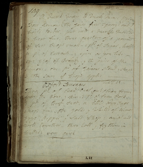 A winning recipe from a family manuscript recipe book in several hands, kept by the Edwards family of Henlow Warden, between 1747 and the 1850s. This recipe dates from c. 1760. ms38783