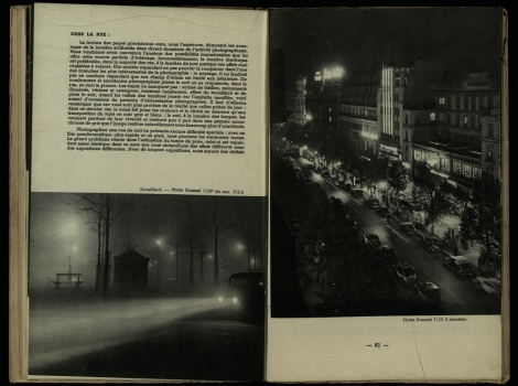 Two examples of Brassaï's mastery of night-photography from Éclairages artificiels (St Andrews copy Photo TR590.N38)