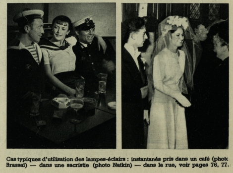 Two examples of flash photography by Brassaï (left) and Natkin (right) from Éclairages artificiels (St Andrews copy Photo TR590.N38)