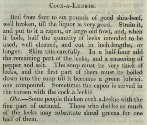 The cook and housewife's manual, p. 50. St Andrews copy at s TX717.J6 (SR).
