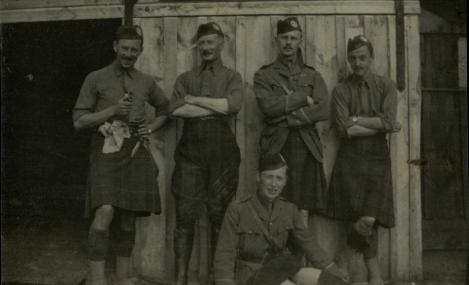 11th btn Gordon Highlanders officers ms36011 2_1-1