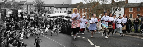 Olney Pancake Race past and present.