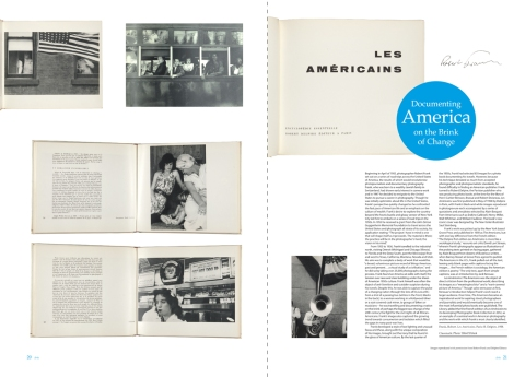 Two-page spread from Issue 6 of 600 Years of Book Collecting, featuring the first edition of Robert Frank's Les Americains.