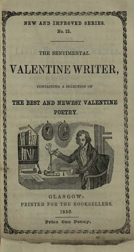 Title page from The Sentimental Valentine Writer (s PR8624.R2)