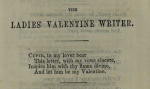 Ladies' poetry from The Sentimental Valentine Writer
