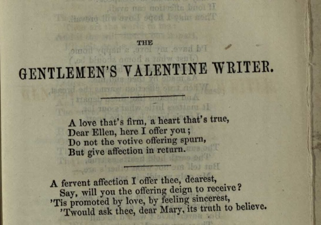 Gentlemen's poetry from The Sentimental Valentine Writer