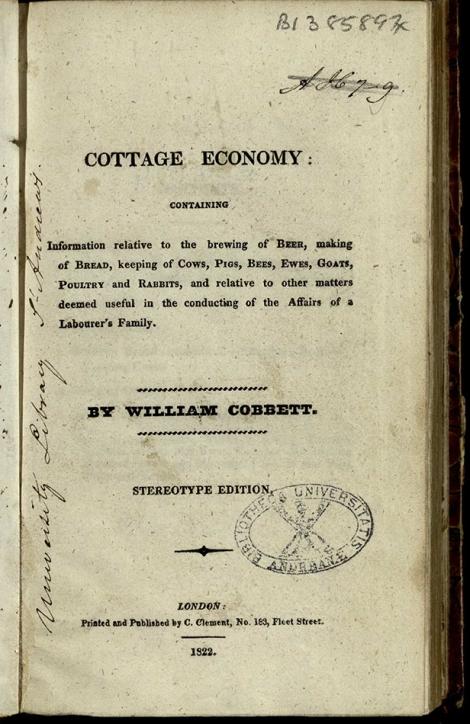 title page Cobbett