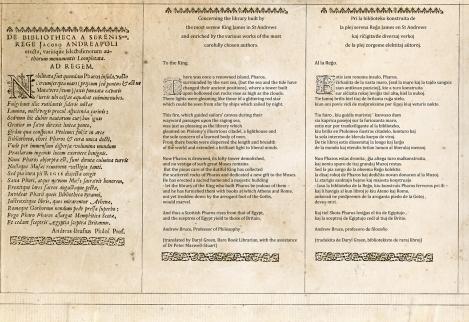 De Bibliotheca a serenissimo - Latin English Esperanto-1