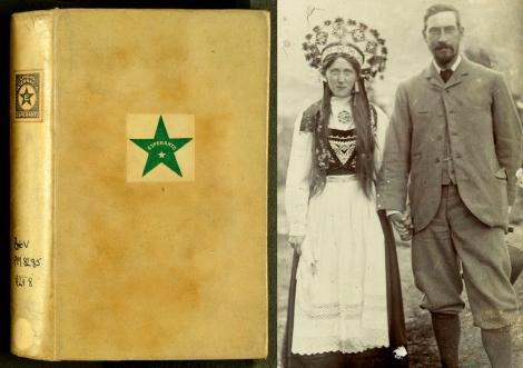 Dr L.L. Zamenhof's Fundamenta krestomatio de la lingvo Esperanto (1903); and the Rev. John Beveridge with a soon-to-be-married friend in traditional Norwegian costume.