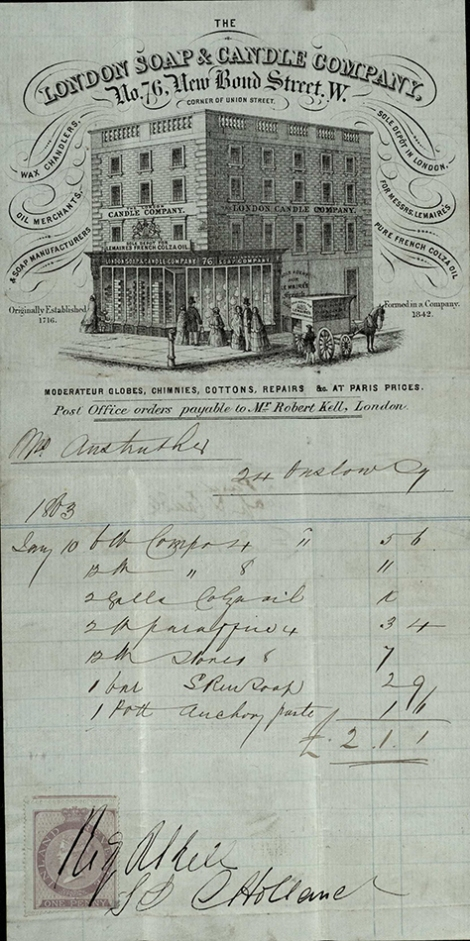 London candle and soap makers, 1863_1