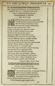 The original Latin poem, by Andrew Bruce, from The Muses welcome.