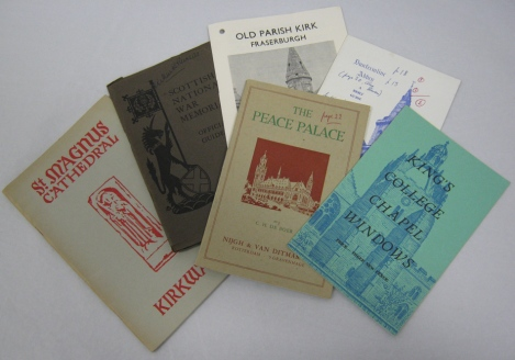 Various pamphlets from the small archive of Douglas Strachan held at St Andrews