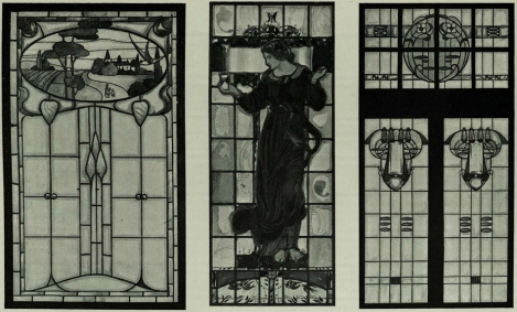 Three window designs from The Studio 1906 Special Edition