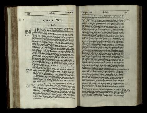 John Locke (1632-1704), An essay concerning humane understanding. Second edition. London, 1694. St Andrews copy at r17f B1290.C94.