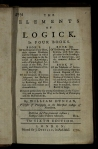 William Duncan (1717-1760), The elements of logick in four books. Sixth edition. London, 1770. St Andrews copy at s BC101.D8D70.
