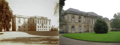 The Carnegie Building in 1911 and today (where the roof extension can be seen), the neo-classical extension to the Library, built in 1907-09. The Stacks and Science Reading Room were located in this extension. 1911 photograph A. Downie (StAU-SouS-Lib-13).