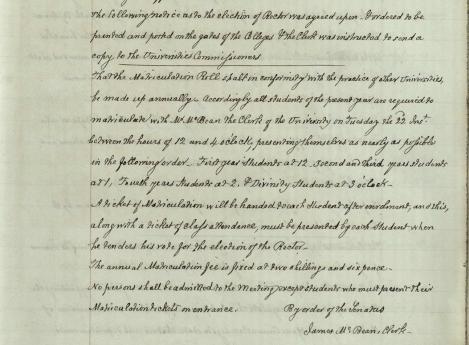 Senatus Minutes 1859