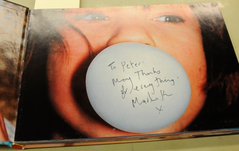A presentation inscription to Peter Fraser signed by Martin Parr on his Common Sense (1999)