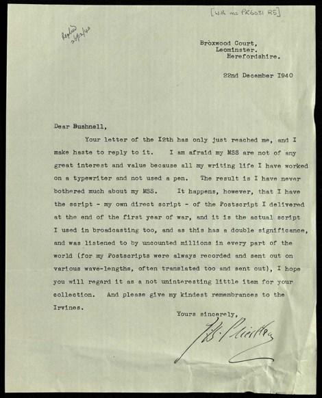 JB Priestly letter_1