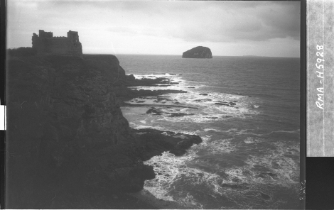 Tantallon Castle and Bass Rock (1937) by Robert Moyes Adam  (St Andrews RMA-H-5928)