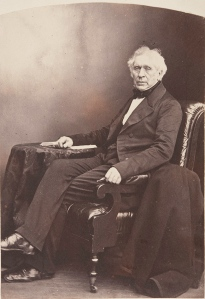 Sir David Brewster, Principal of the United College 1838-59, photographed by Thomas Rodger in 1850. ALB-6-115.2