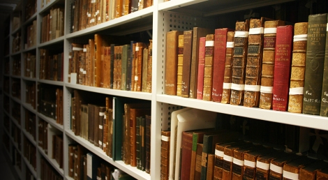 Some of Principal J.D. Forbes book collection now housed within the University Library Special Collections