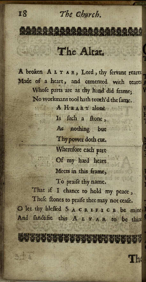 Reading The Collections Week 14 George Herbert The