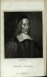 George Herbert from Izaak Walton,  The Lives of Dr John Donne, Sir Henry Wotton, Mr Richard Hooker, Mr George Herbert… (London: John Major, 1825) s PR3757.W6L5E25