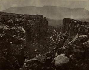 'Almanna Dagh (Almannagjá) or All Men's Chasm' from A Holiday in Iceland (Photo DL312.V25).