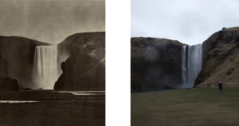 Skogafoss past and Present