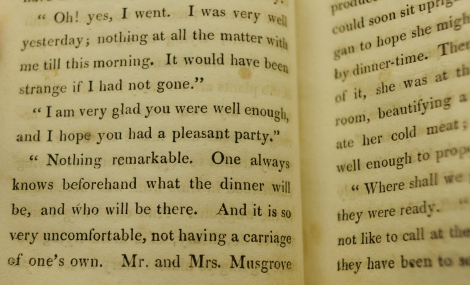 The gossip goes on, and on, and on. From St Andrews' copy of the first edition of Persuasion.