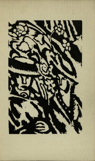 The other woodcut from the first edition of Kew Gardens