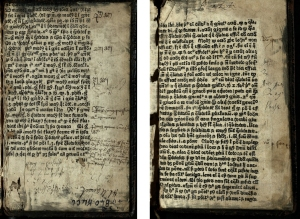 Leaves y3r (left) and y5r (right) from the St Andrews copy