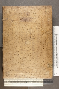 Front board of TypGA.A72ZG, a fine example of a 1470s German pigskin binding