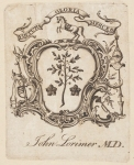 Bookplate of John Lorimer, M.D.