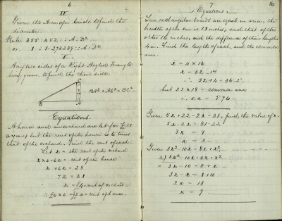 Notes taken down by WC McIntosh at lectures delivered by Thomas Duncan (ms37106/3).