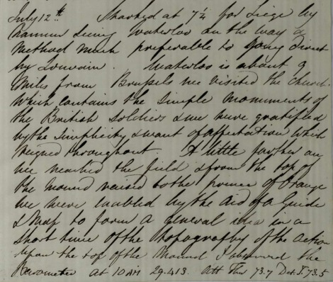Extract from the travel journal of James David Forbes, 1832 msdep7/box 14/I/11