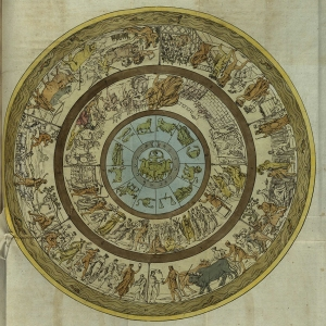 A depiction of the shield of Achilles, based upon Homer's description. From M. Quatremère de Quincy's (1755-1849) Mémoire sur la description du bouclier d'Achille par Homère.