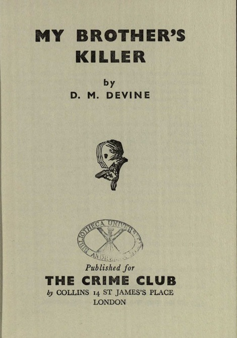 My Brother's killer title page