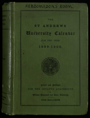 Front cover of a typical Calendar, this one being the copy held in the Hebdomadar's room, now in muniments.