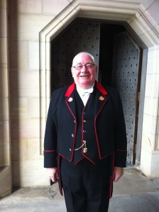 John after his final chapel service - there was a round of applause and not a dry eye in the house.