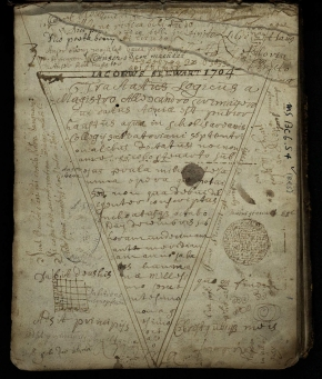 Notes from the dictates of Alexander Scrimgeour, regent of St Salvator's College, University of St Andrews, taken down by James Stewart (msBC6.S4 [ms173]).