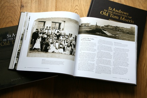 In the Footsteps of Old Tom Morris - Book spread